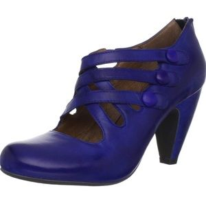 """Scarlett"" Miz Mooz Blue Leather Heels! 💥"